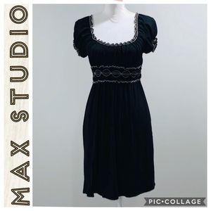 Max Studio • Black Short sleeve dress • Small